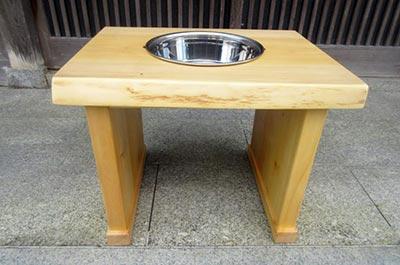 イチョウの木の食器台